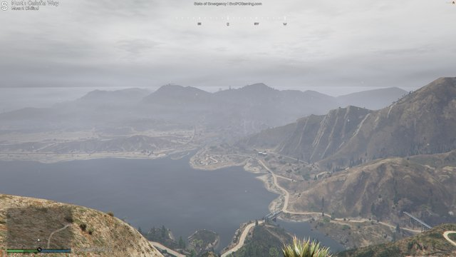 An overview of Sandy Shores from the Mountain-top